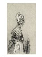 Old Woman from Normandy in Profile, 1857 Fine Art Print