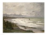 The Beach at Sainte Adresse, 1867 Fine Art Print