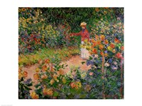 Garden at Giverny, 1895 Framed Print