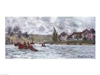 Village de Lavacourt, pres de Vetheuil, 1878 Fine Art Print