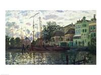 The Dam at Zaandam, Evening, 1871 Fine Art Print