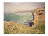 Cliff at Varengeville, 1882 Fine Art Print