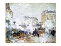 Exterior of the Gare Saint-Lazare, Arrival of a Train by Claude Monet - various sizes