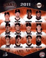 "San Francisco Giants 2011 Team Composite - 8"" x 10"""