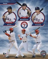 Texas Rangers 2011 Triple Play Composite Fine Art Print