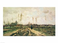 Landscape with a Church and Houses, Nuenen, 1885 Fine Art Print