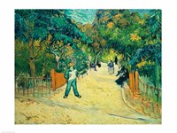 Entrance to the Public Gardens in Arles, 1888 Fine Art Print