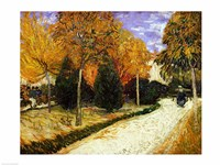 Path in the Park at Arles, 1888 Fine Art Print
