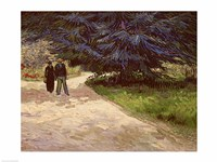 Couple in the Park, Arles, 1888 Fine Art Print