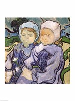 Two Little Girls, 1890 by Vincent Van Gogh, 1890 - various sizes - $16.49