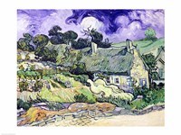Thatched cottages at Cordeville Fine Art Print