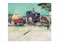 The Caravans, Gypsy Encampment near Arles by Vincent Van Gogh - various sizes - $16.49