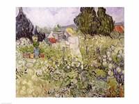 Mademoiselle Gachet in her garden at Auvers-sur-Oise Fine Art Print