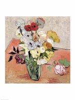 Roses and Anemones, 1890 Fine Art Print