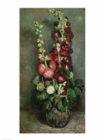 Vase of Hollyhocks, 1886 Fine Art Print