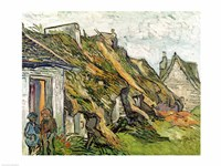 Thatched Cottages in Chaponval Fine Art Print