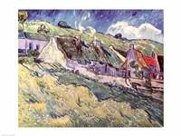 Cottages at Auvers-sur-Oise, 1890 Fine Art Print