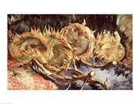 Four Withered Sunflowers, 1887 Fine Art Print
