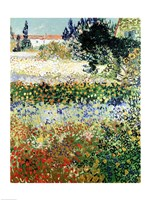 Garden in Bloom, Arles, 1888 by Vincent Van Gogh, 1888 - various sizes