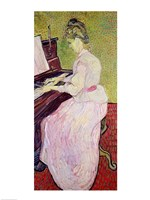 Marguerite Gachet at the Piano, 1890 Fine Art Print