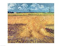 Wheatfield with Sheaves, 1888 - wheat pile Fine Art Print