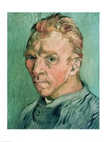 Self Portrait (green), 1889 by Vincent Van Gogh, 1889 - various sizes