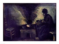 Peasant Woman by the Hearth, 1885 by Vincent Van Gogh, 1885 - various sizes