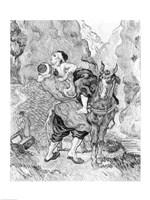 The Good Samaritan, after Delacroix, 1890 Fine Art Print