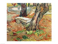 The Bench at Saint-Remy, 1889 Fine Art Print