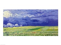 Wheatfields under Thunderclouds, 1890 Framed Print