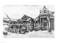 The fish drying barn at Scheveningen, c.1882 Fine Art Print