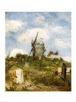 Le Moulin de Blute-Fin, Montmartre, 1886 Fine Art Print