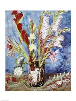 Vase with Gladioli Fine Art Print