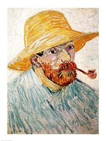 Self Portrait, 1888 wearing a hat Fine Art Print