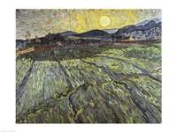 Enclosed field with rising sun, 1889 Fine Art Print