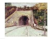Tunnel through hillside by Vincent Van Gogh - various sizes