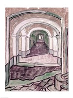 Arched Hallway by Vincent Van Gogh - various sizes, FulcrumGallery.com brand