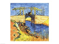 Le Pont de Langlois a Arles, 1888 Fine Art Print