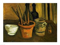 Still Life of Paintbrushes in a Flowerpot, 1884 Fine Art Print