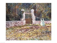 Entrance to the Voyer-d'Argenson Park at Asnieres Fine Art Print