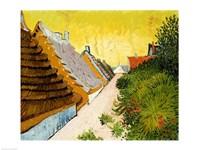 Farmhouses at Saintes-Maries, June 1888 Fine Art Print