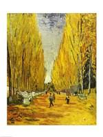 L'Allee des Alyscamps, Arles, 1888 Fine Art Print