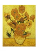 Sunflowers, 1889 Framed Print
