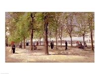 Terrace in the Luxembourg Garden, 1886 by Vincent Van Gogh, 1886 - various sizes