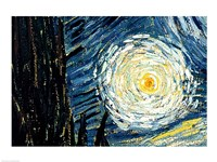 The Starry Night, June 1889 Detail D Fine Art Print