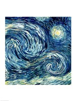 The Starry Night, June 1889 Detail B Fine Art Print