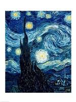 The Starry Night, June 1889 Detail A Fine Art Print