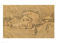 The Artist's House in Arles by Vincent Van Gogh - various sizes