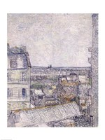 View from Vincent's room in the Rue Lepic by Vincent Van Gogh - various sizes, FulcrumGallery.com brand