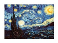 The Starry Night, June 1889 Framed Print